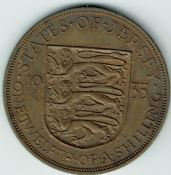 Jersey, George V, 1/12th Shilling 1935, VF, WB7192